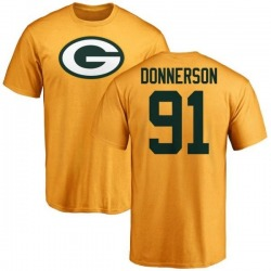 Men's Kendall Donnerson Green Bay Packers Name & Number Logo T-Shirt - Gold