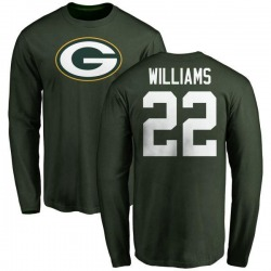 Youth Dexter Williams Green Bay Packers Name & Number Logo Long Sleeve T-Shirt - Green