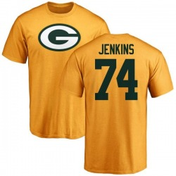 Youth Elgton Jenkins Green Bay Packers Name & Number Logo T-Shirt - Gold